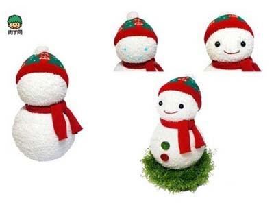 【diy可爱圣诞小雪人】