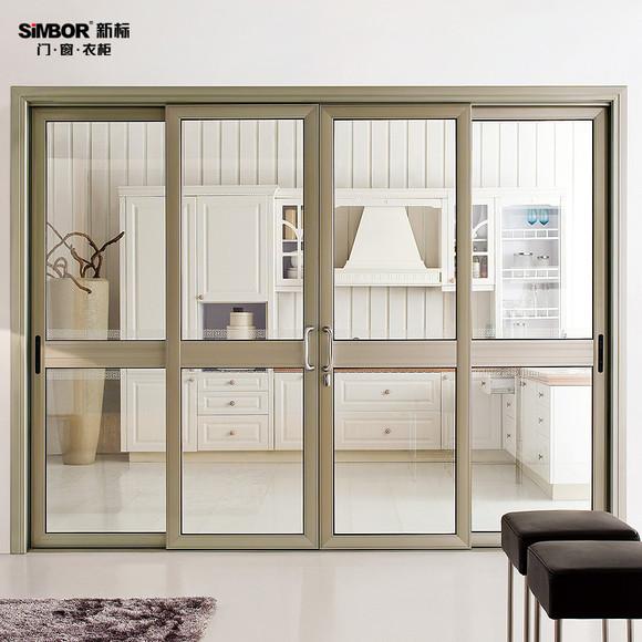 新标高端铝合金推拉门 客厅隔断门 阳台玻璃移门 广州