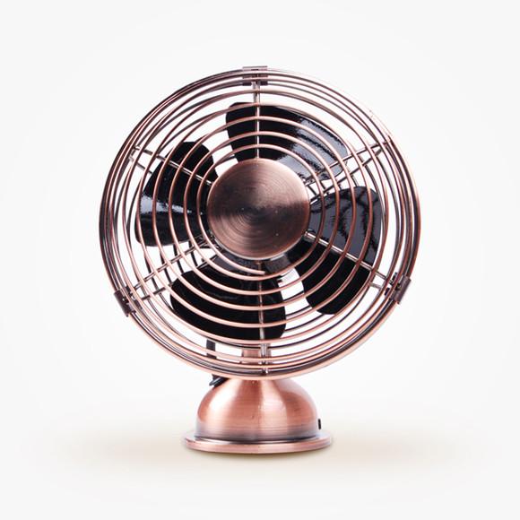 复古创意小型usb 静音迷你风扇 电风扇图片