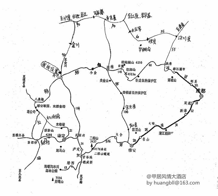 川西环线地图