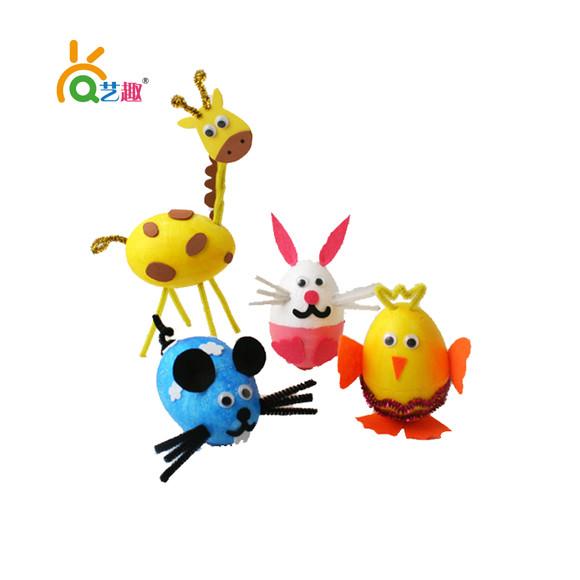 幼儿园手工diy蛋形保丽龙泡沫动物