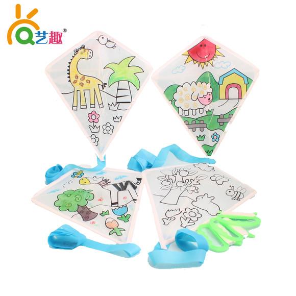 儿童diy空白手绘风筝-活动教学风筝