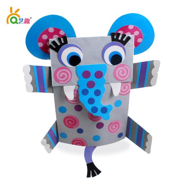 动物纸袋手偶 - 艺趣幼儿手工