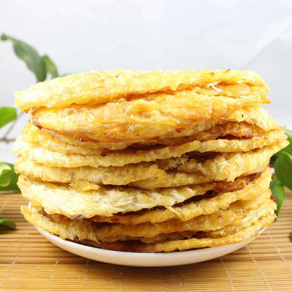 秦皇岛北戴河海味特产休闲零食海琪花即食板烧烤马面鱼片 250g