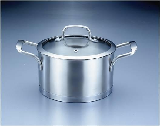 锅内食物的烹饪情况 3  不锈钢拉丝设计,高档,防磨损,经耐用 红土大地