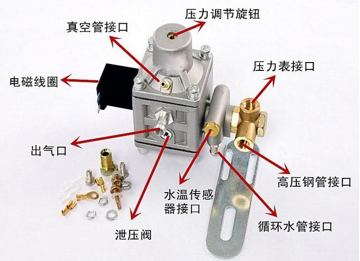 cng多点直喷减压阀 减压器调节器 汽车天然气cng燃气改装配件汽包图片