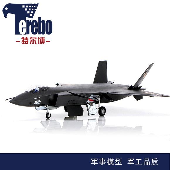48黑丝带歼20战斗机模型