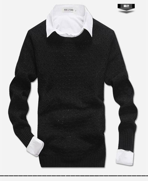 稳重版,男士编织毛衣