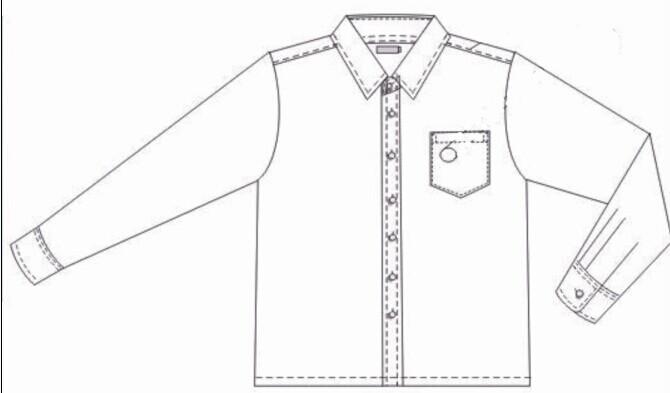 骏景中学男生冬礼服衬衣