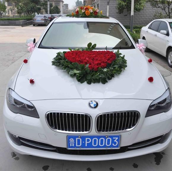 ( 编码 :hc003 ) 图片宝马车和奔驰是大号心形 此价格是婚车鲜花价格