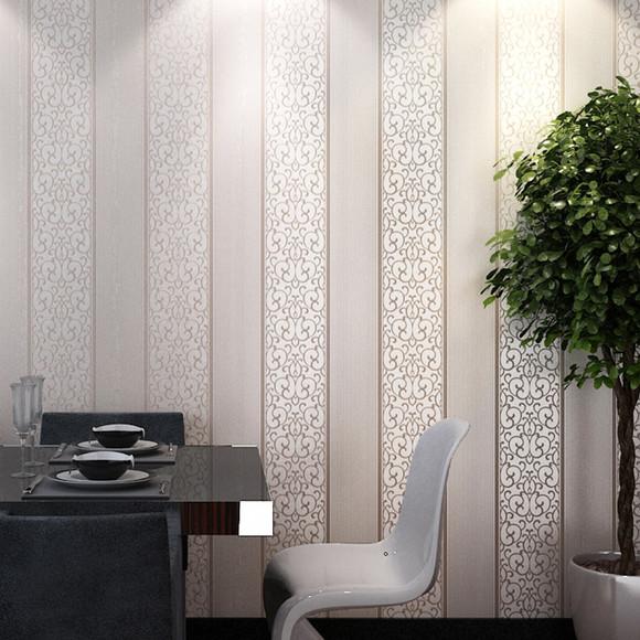 怡科简约欧式墙纸 条纹壁纸无纺布 客厅电视背景墙 简欧卧室装修
