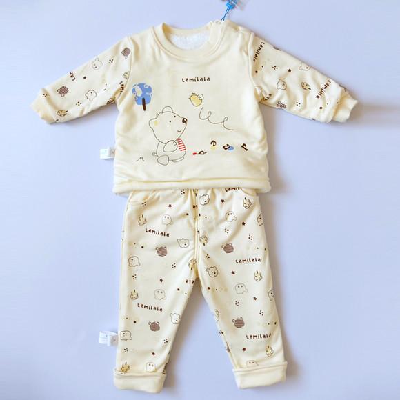 塔米拉拉冬装新款男女儿童装珊瑚绒宝宝棉衣棉袄套装婴儿棉服外套