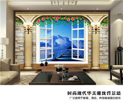 欧式壁画 简欧 沙发背景墙