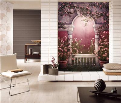 玄关画 走廊壁画 欧式壁画 壁布