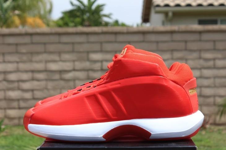 暴草骚妇_adidas crazy 1 kobe1 科比复刻篮球鞋 面包鞋 骚红 c