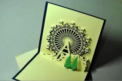 天津之眼立体纸雕/立体摩天轮/生日礼物