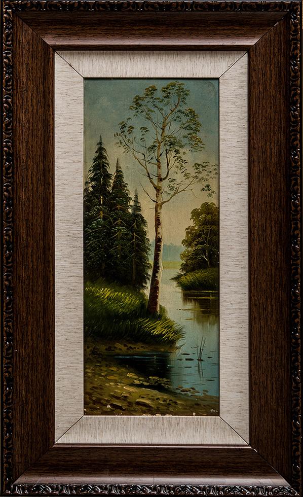 湖岸边的白桦树 - 伯爵夫人油画馆