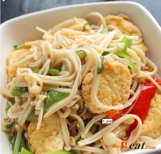 [真味轩木桶饭]金针菇日本豆腐