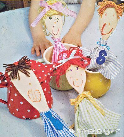 木勺人偶创意手工材料包 spoon puppets