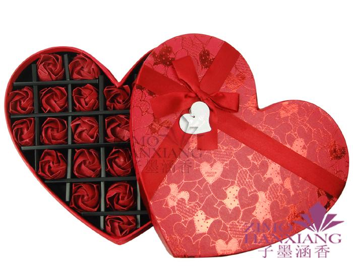 精美手工制作折纸玫瑰/巧克力心形礼盒创意生日礼物 全国包邮