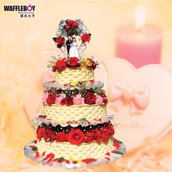 花语多层婚礼创意蛋糕