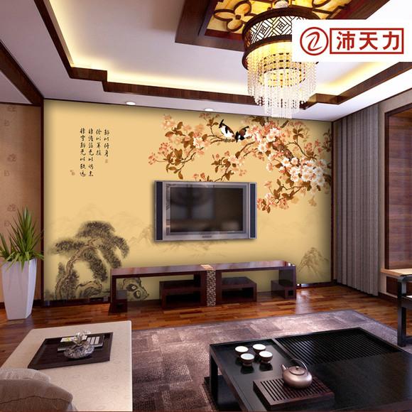 中式花鸟壁纸壁画