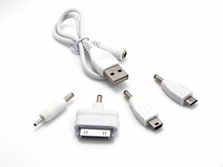 手机多功能转换头4合1usb连接线数据线移动电源万能转接头充电宝