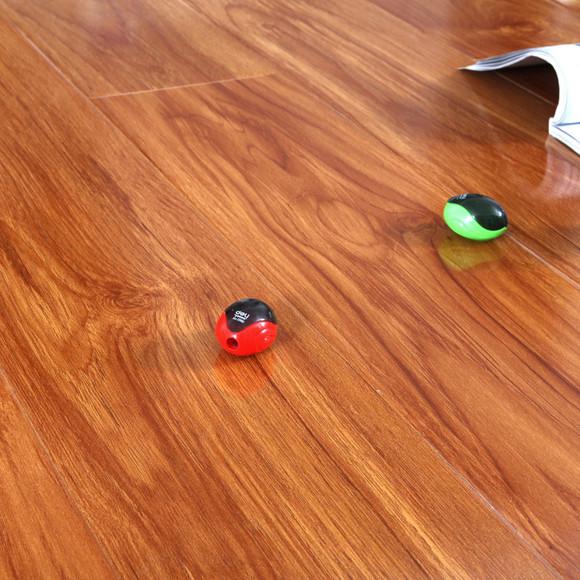 强化木地板榆木亮面实木复合木地板 防水 耐磨木地板包邮厂家直销