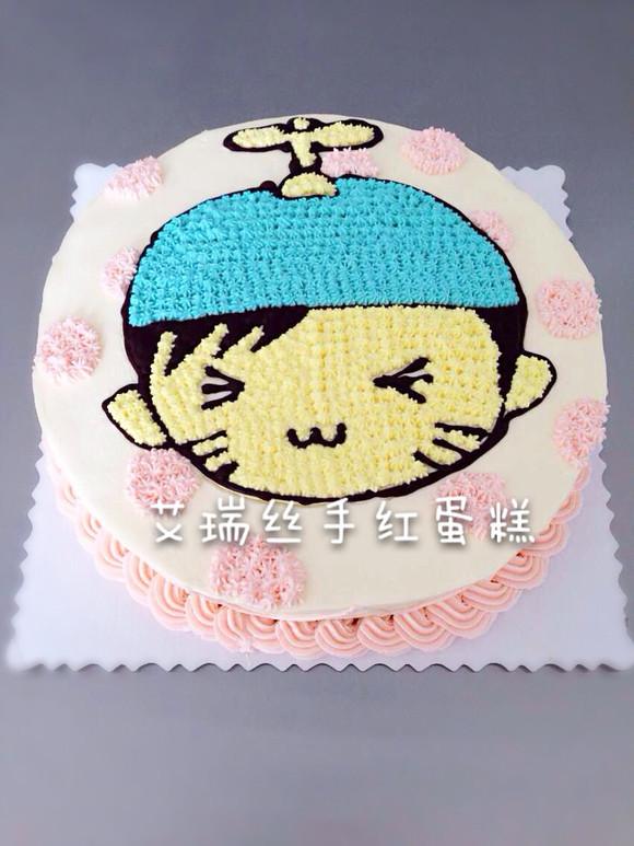 商品详情 小男孩款彩虹蛋糕,只要你有q版头像,我们就可以绘制哦.