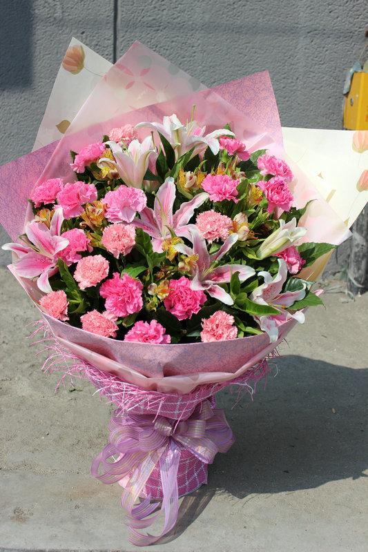 鲜花花束--康乃馨 混搭花束