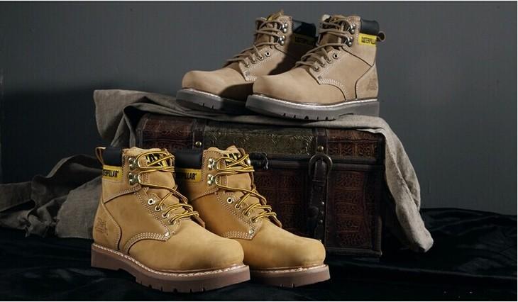 cat经典工装靴搭配