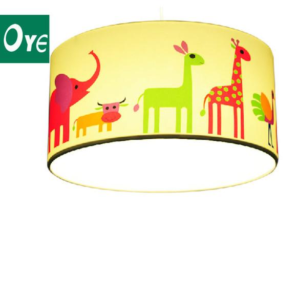 【大象和它的朋友们】可爱儿童房中式吊灯手绘设计艺术卧室灯 创意