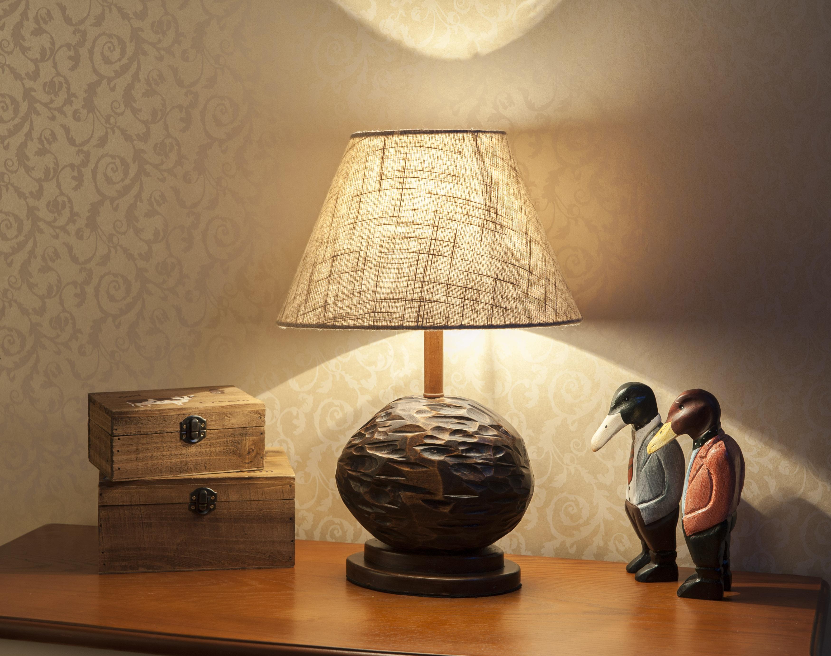 欧式台灯美式卧室床头灯英伦复古典实木调光客厅书房
