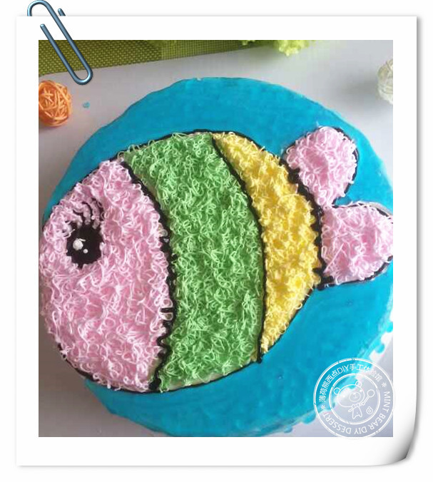 蛋糕餐盘手工制作小鱼