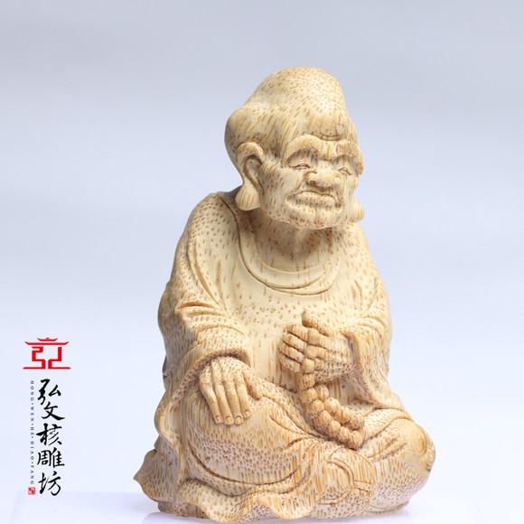 竹根雕刻《罗汉》 作者:云心