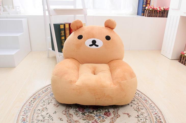 轻松熊卡通儿童懒人沙发小沙发椅可爱宝宝榻榻米椅
