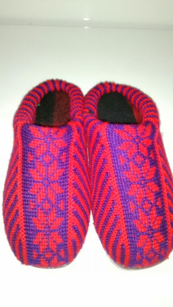 学织棉鞋花样100种_毛线织棉鞋花样视频图片