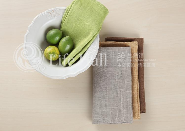 亚麻竹节餐巾 中式/简欧 餐桌用品 板房餐厅 400*400