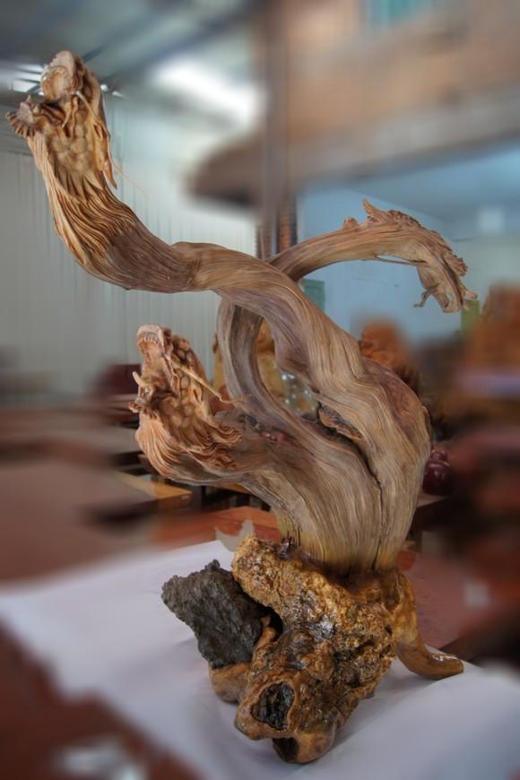 太行崖柏生肖龙动物艺术根雕摆件 别墅会所酒店古典木雕装饰品