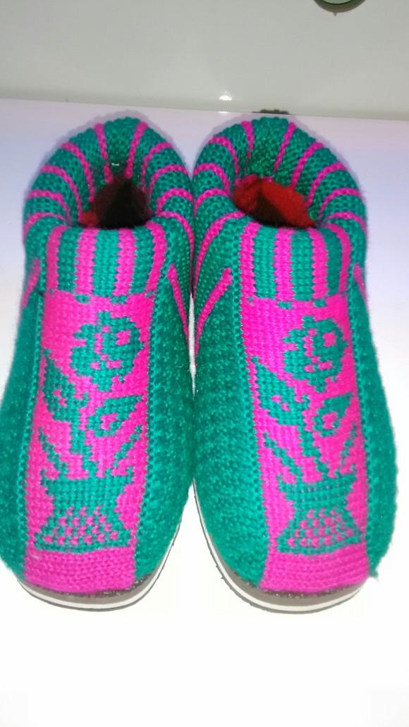 兔子毛线棉鞋花样 图片合集