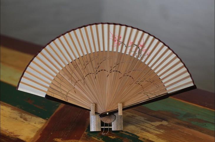 兴怡泰扇子 唛头花扇面手绘画花女式扇 中国风折扇