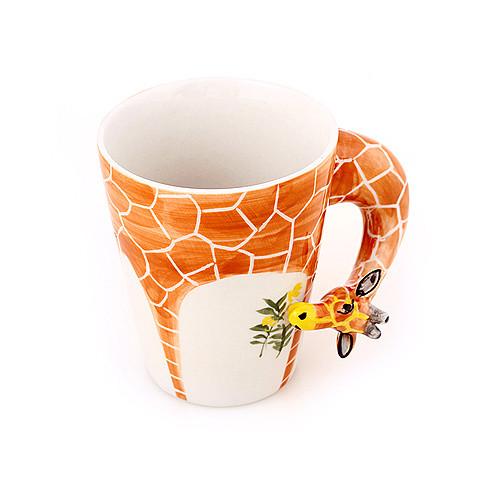 趣玩创意家居 纯手绘陶瓷动物杯