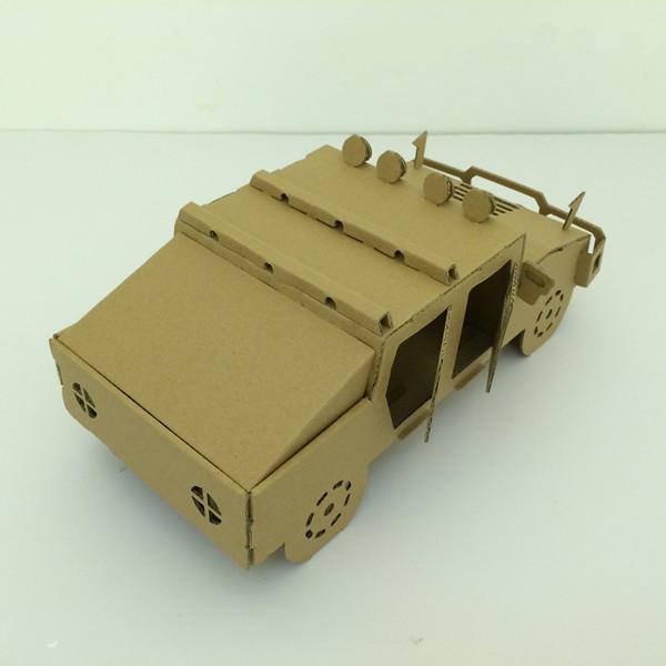 悍马3d模型 diy折纸拼图艺术 教育三维模型拼图