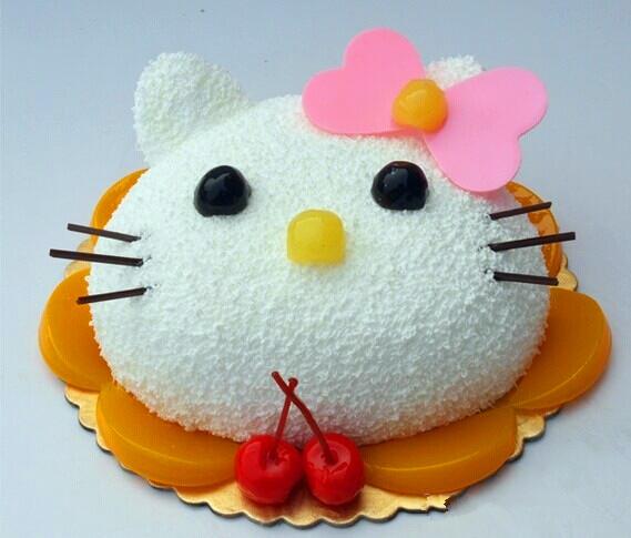 个性卡通蛋糕 hello kitty猫