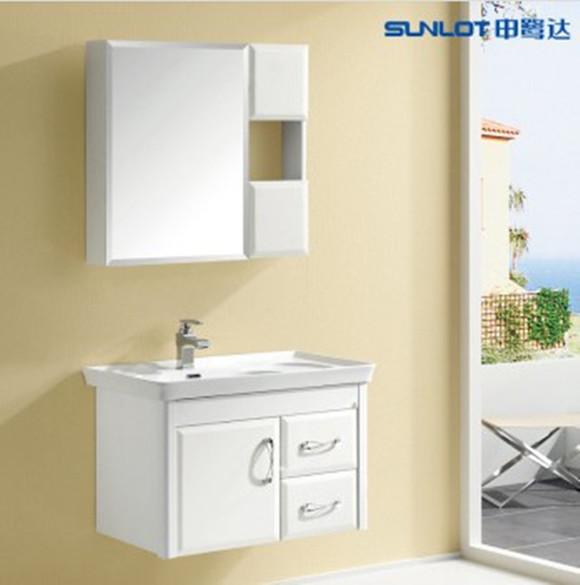申鹭达卫浴 实木浴室柜洗脸盆 镜面烤漆 带镜柜 ld-38218