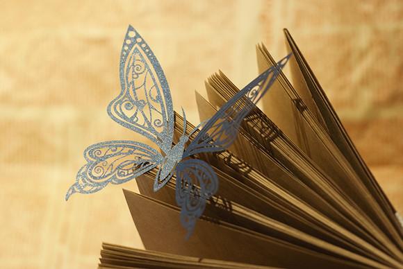 【moka】-若梦- 独家原创纸雕蝴蝶 创意镂空纸品 婚礼装饰道具