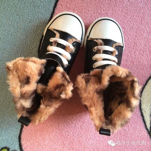 绒保暖粘扣运动休闲棉鞋