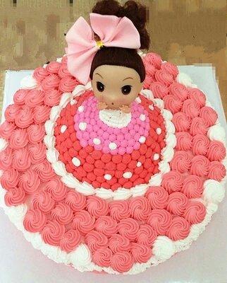 双层 洗澡芭比娃娃蛋糕