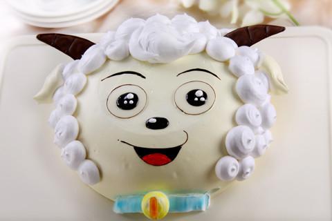 可爱蛋糕懒羊羊