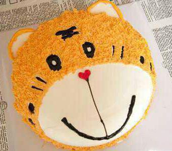 可爱老虎奶油蛋糕